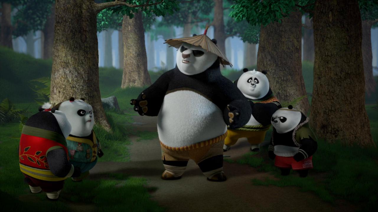 Chinese panda cartoon image series